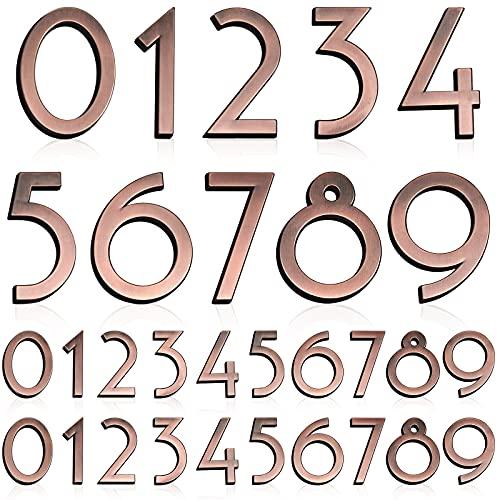 30 Pieces 3D Mailbox Numbers 3D Self Adhesive Door House Numbers 0-9 Reflective Address Numbers Street Address Plaques Numbers for House Mailbox,Apartment, Hotel, Door, Room,2.76 Inch, Bronze