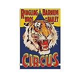 JINHAODG Ringling Brothers Zirkus-Kunst-Poster auf