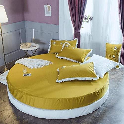 HPPSLT Protector de colchón, con Aloe Vera, (Todas Las Medidas) Faldón de Cama Redondo de algodón Redondo -10_2.2m