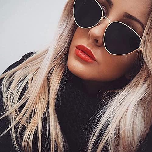 Gafas De Sol Gafas De Sol Pequeñas De Metal Vintage para Mujer, Gafas De Sol Retro De Diseñador De Marca para Mujer, Gafas De Sol Uv400 Plateadas