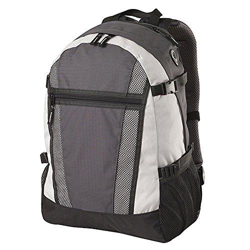 Shugon - Sac à dos sport étudiant loisirs randonnée réf. 1295-650.38 - gris et blanc - 20L - mixte homme/femme