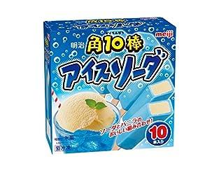 [冷凍] 明治 角10棒 アイスソーダ 45ml×10
