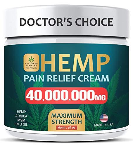 Pain Relief Cream - Maximum Strength 40,000,000 MG - Fast Relief from Pain, Ache, Arthritis &...