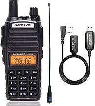 BAOFENG UV-82 Plus Ham CB Amateur Portable Two Way Radio+771 Antenna+PL2303 Programming Cable