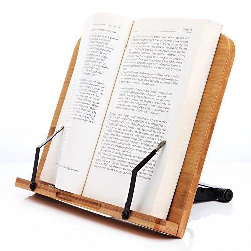 Readaeer --Soporte de lectura ,Atríl de libros , Bambú Natural, Perfecto elige para los lectores