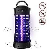 Lukasa Lámpara Mosquito Electrico, Lámpara 7W UV Luz Lampara para Mata Mosquitos y Repelente Insectos, Control Insecto Efecto 30m²