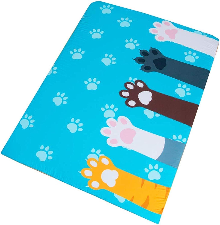 Tatami Bed Mattress Anti-Slip Folding Mat, Single Double Floor Sleeping Pad Nap for Living Room Dormitory,Baby Play Mat Animal Shape Crawling Mat Mattress,3,90X200cm