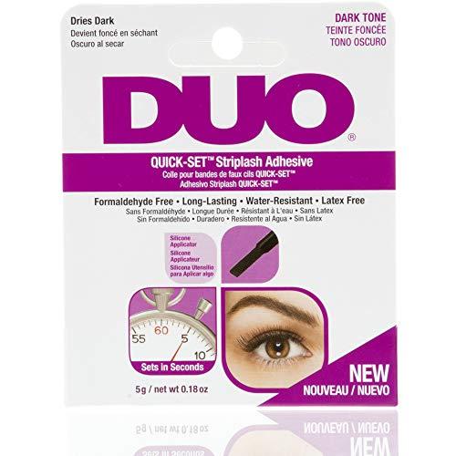 ARDELL DUO Quickset Adhesive Dark, Wimpernkleber für künstliche Wimpern, das Original für perfekte Lashes (schwarz), 5g (1x)
