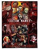 Personalized Horror Movie Watching Blanket, Custom Name Halloween Blanket Fleece, Halloween Decorations, Horror Movie Halloween Decor,, Fan Horror Movie Blanket Home Decorations