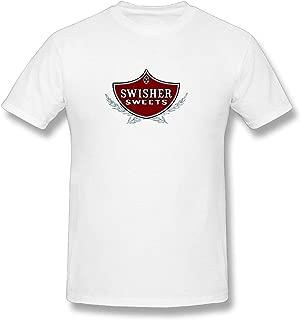 Heudi Men Men's Short Sleeved T-shirt Swisher Sweets Blunts Comfortable White Short Sleeve