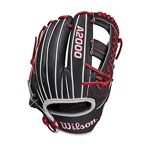 Wilson Sporting Goods Men's 2021 A2000 1785, Black/Red-SuperSkin Glove, L