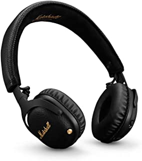 Marshall Mid ANC Active Noise Cancelling On-Ear Wireless Bluetooth Headphone, Black (04092138)