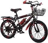 Bicicleta correpasillo niño Bicicleta para Niños De Alta Y 20 Pulgadas De Altura De Carbono | Adecuado para Niños Y Niñas De 7 A 14 Años De Ciclismo, Altura De Asiento Ajustable