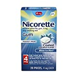 Nicorette 4mg Nicotine Gum to Quit Smoking - White Flavored Stop Smoking Aid, Ice Mint, 20 Count