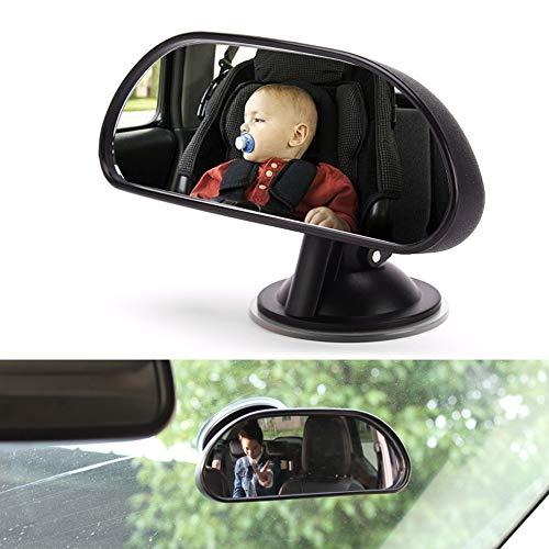 VISLONE Specchietto Retrovisore Bambini, Specchietto Auto per Bambini Regolabile per Sicurezza Poggiatesta Posteriore Auto, Specchio Grandangolare di Sicurezza dell'Automobile
