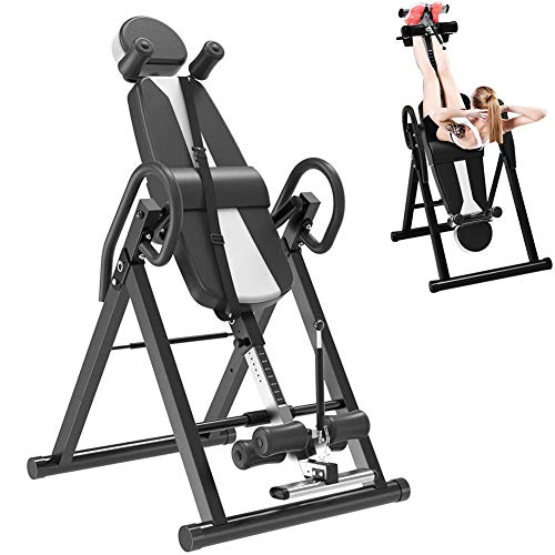 Great Price! Inversion Table Back Therapy Fitness Reflexology Equipment - Gravity Inversion Table St...