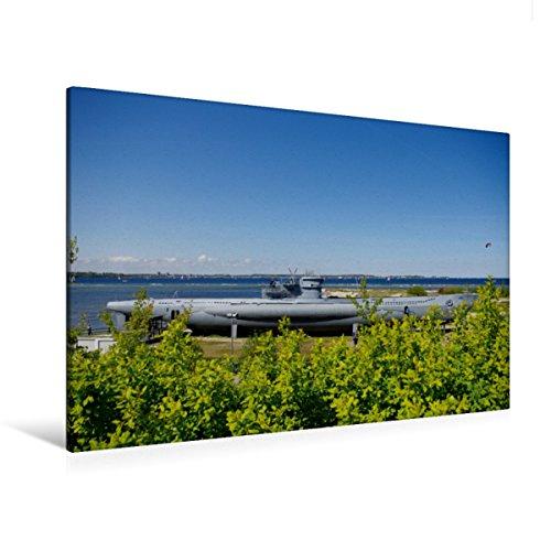 CALVENDO Premium Textil-Leinwand 120 x 80 cm Quer-Format U-Boot von Laboe, Leinwanddruck von Tanja Riedel
