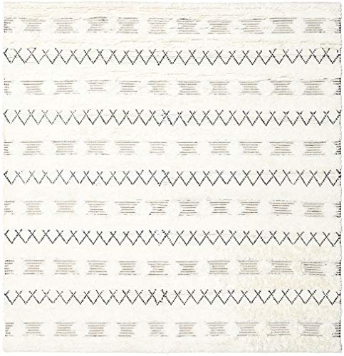RugVista Shedir - Weiß Teppich 250x250 Moderner, Quadratisch Teppich