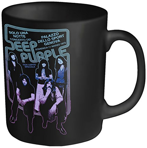 Plastic Head Deep Purple Euro Tour–Taza, Color Negro