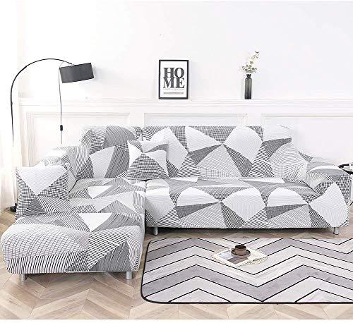 NIBESSER Funda de sofá con chaise longue elástica de 16 pi