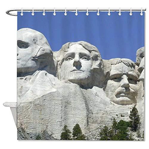 YY-one Yyone Rushmore - Cortina de ducha impermeable con ganchos para decoración...