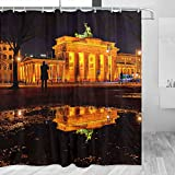 Deutschland Berlin Brandenburger Tor Duschvorhang Reise Badezimmer Dekor Set mit Haken Polyester 183 x 183 cm (YL-02216)