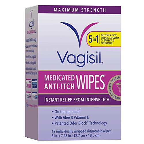 Vagisil Anti-Itch Medicated Feminine Intimate Wipes for Women $3.98 (43% Off)