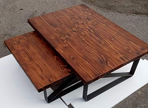 Industrieller Couchtisch gesetztes modernes Wohnzimmer-Ausgangsmöbel-festes Tabellen-Holz-Metall