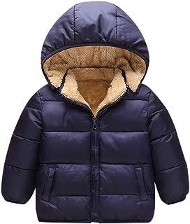 fc95611bbb904 Manteau Garçons Blouson d hiver Bébé Veste Capuche Manteau épais Vêtements Chaud  Enfant Couleur Unie