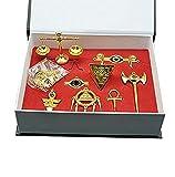 Photo de Yugioh Millenium Items Puzzle Eye Rod Ring Scale Necklace Keychain Pendant Set by Lanrui