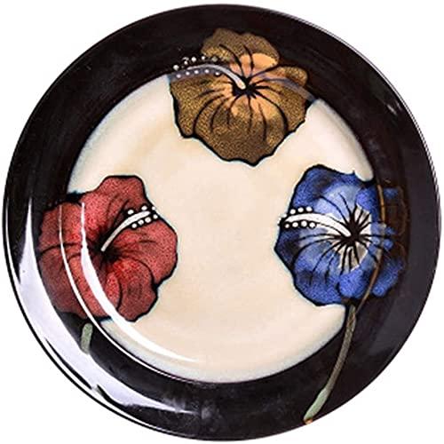 Juego de tazón de Cereales Vajilla Japonesa Retro Placa de cerámica Placa China Creativa Plato Occidental Plato Plato casero Plato Plato Plato Plato (tamaño: 11 Pulgadas) Cuencos de Pasta