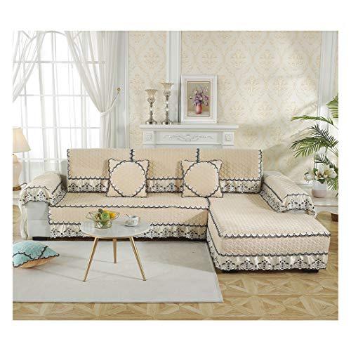 MISSMAO_FASHION2019 Baumwolle Für Haustiere Couch Sofa Überwürfe, Anti-rutsch Übergroßen Spitze Couch Sofa Überwürfe Couch-Shield Sofaschoner Gelb 90x180cm