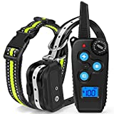 W&O Dog Shock Training Collar with Remote - 1640ft Range Shock Collar for Dogs IPX7 Waterproof No Harm Dog Training Collar Fast Training Effect for Small Medium Large Dogs