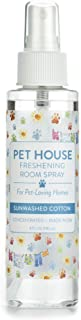 Pet House Pet Friendly Freshening Room Spray in 6 Fragrances - Non Toxic - Concentrated Air Freshening Spray Neutralizes Pet Odor – Effective, Fast-Acting – 4 oz - (Sunwashed Cotton)