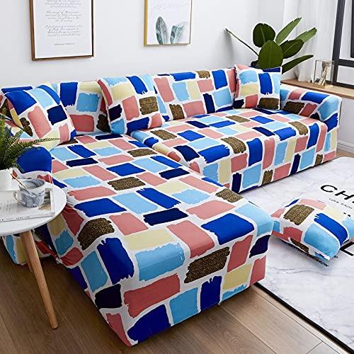 Vardagsrum sofföverdrag modern polyester hörnsoffa överdrag soffa stol skyddande skydd vardagsrum 1/2/3/4 säte A10 2-sits