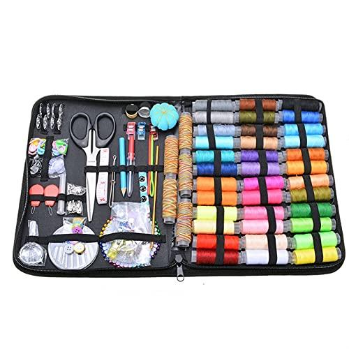 MJJCY 200pcs Conjunto de Herramientas de Costura Multifuncional de 200pcs DIY Kit de Costura Artesanal Accesorios de Costura Hilo de Coser Needles Kit de Herramientas (Color : Black)