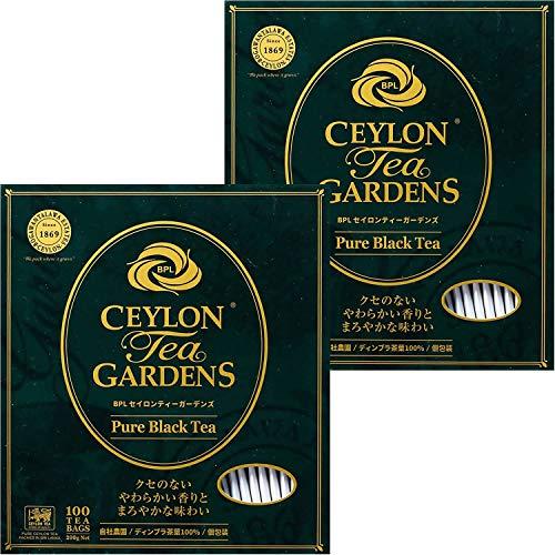 富永貿易 BPL セイロンティーガーデンズ ピュアブラック ティーバック 100袋 [ 自社農園 ディンブラ茶葉 100% レインフォレスト・アライアンス認証 個包装 ] 200g ×2個 ティーバッグ