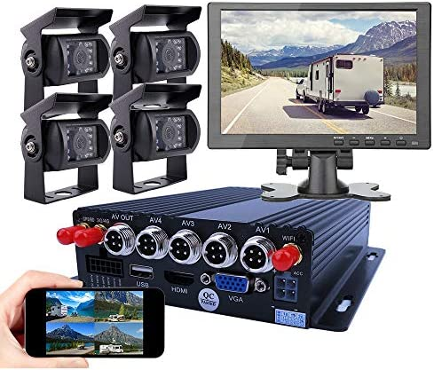 JOINLGO 4CH GPS 4G WiFi 1080P Mobile Vehicle Car DVR MDVR Audio and Video Recorder Kit Remote product image