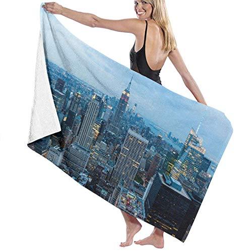 Happy Easter New York Fashion City - Toalla de baño ligera y grande, toalla de playa ultra absorbente para playa, hogar, spa, piscina, gimnasio, viajes, 80 x 130 cm