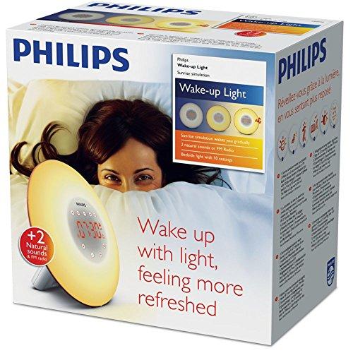 PHILIPS HF3506/50, Wake-up light, Plastik, Weiß, 18 x 18 x 11.5 cm