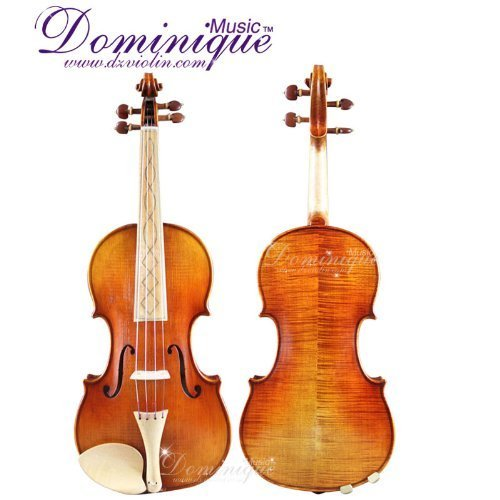 Dominique Music Baroque Style Hand-Made 4/4 Violin with Case, Dominant Strings & Bow