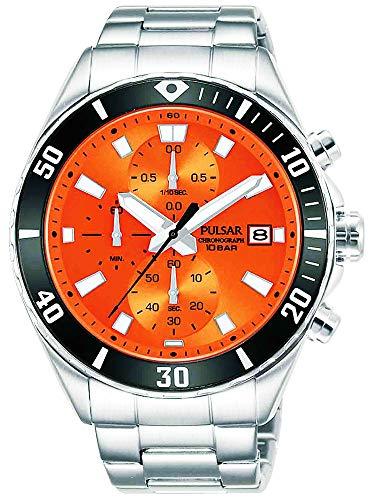 【セット商品】[パルサー] セイコー SEIKO パルサー PULSAR クロノグラフ腕時計 PM3191X1 &マイクロファイバークロス 13×13cm付き[並行輸入品]