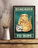 Inga Hamster Remember To Wipe Poster Lustiges Hamster