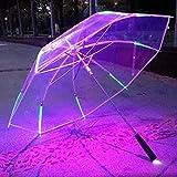 Yidiantong Creative Umbrella, multicolor LED Flash Light Cool Luminoso, Noche Seguridad Protección Regalos