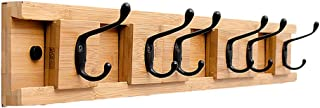 Coat Rack Wall-mounted Creative Coat Rack Wall Porch Door Wood Clothes Hook Clothes Hook Coat Hook 74CM Easy Assembly (Col...
