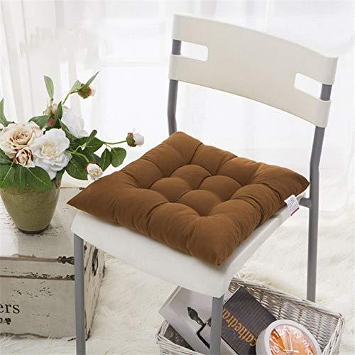 Zacht, meerkleurig zitkussen voor de stoel, voor decoratie thuis, 38 x 38 cm, zitkussen voor de kruk, om te eten of om te schieten, koffiebruin