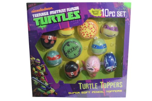 Teenage Mutant Ninja Turtles 981282 Super Douce-Figurine-Funbeez Toppers Lot de 10