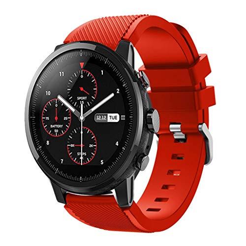 DIPOLA Correa de Correa de Reloj Deportivo Suave de Silicagel para Reloj Inteligente Amazfit Stratos 2S—Rojo