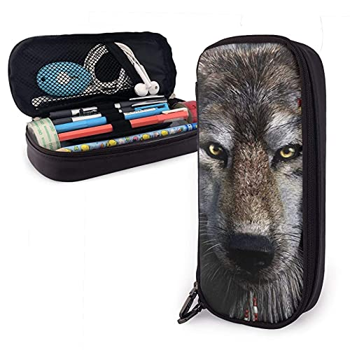 XCNGG Kosmetiktasche mit Federmäppchen Pencil Pouch Stationery/Organizer/Multifunction Perfect Holder for Pencils and PensBreathable Sports Stockings Werewolf