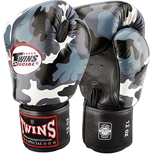 Twins Special Boxhandschuhe, Leder, FBGV-UG, camo Größe 14 Oz